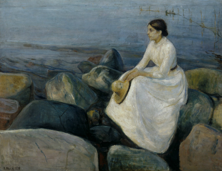 Edvard Munch - Summer Night, Inger on the Beach