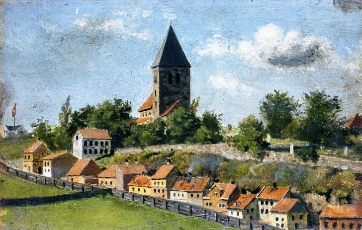 Edvard Munch - Telthusbakken with Gamle Aker Church