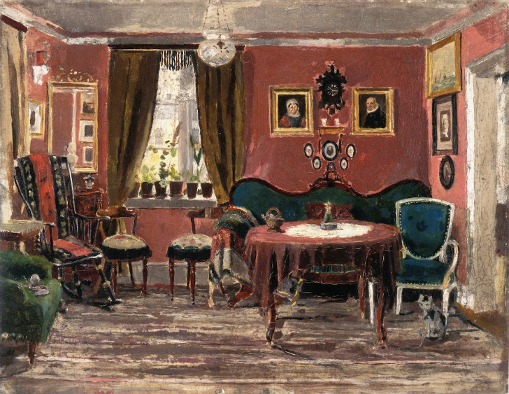 Edvard Munch - The Living-Room of the Misses Munch in Pilestredet 61