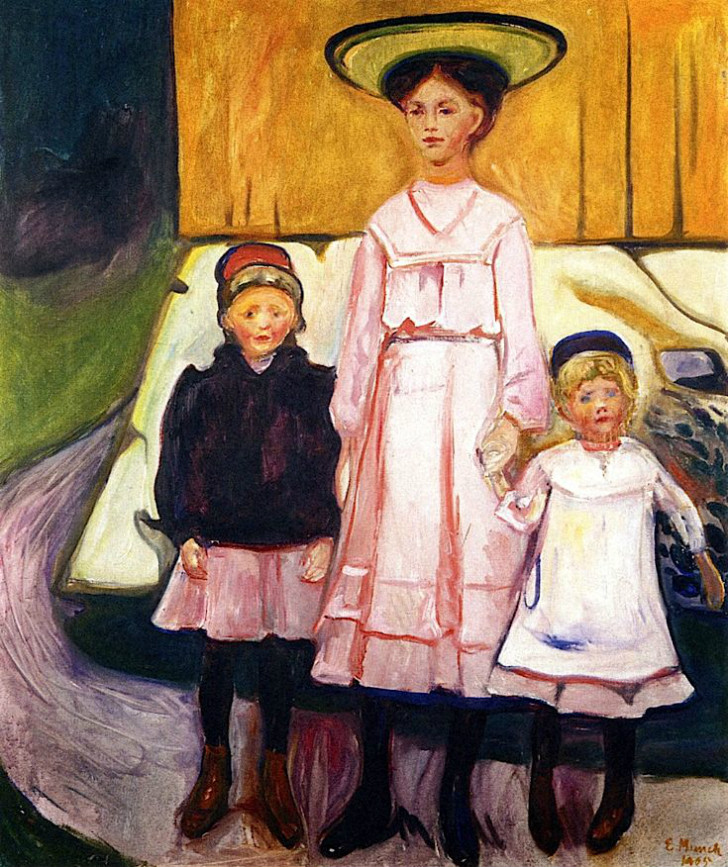 Edvard Munch - Three Girls In Åsgårtstrand