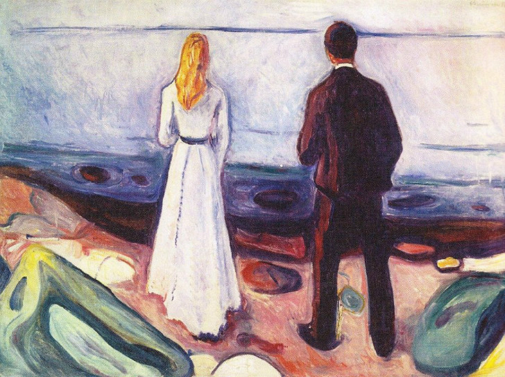 Edvard Munch - Two Human Beings (The Lonely Ones)
