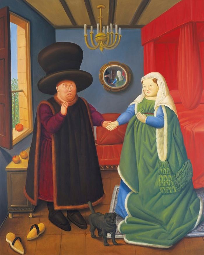Fernando Botero - Arnolfini'nin Evlenmesi