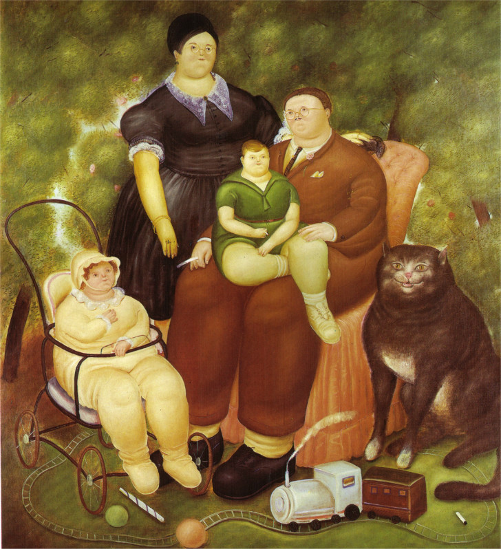 Fernando Botero - Family Scene