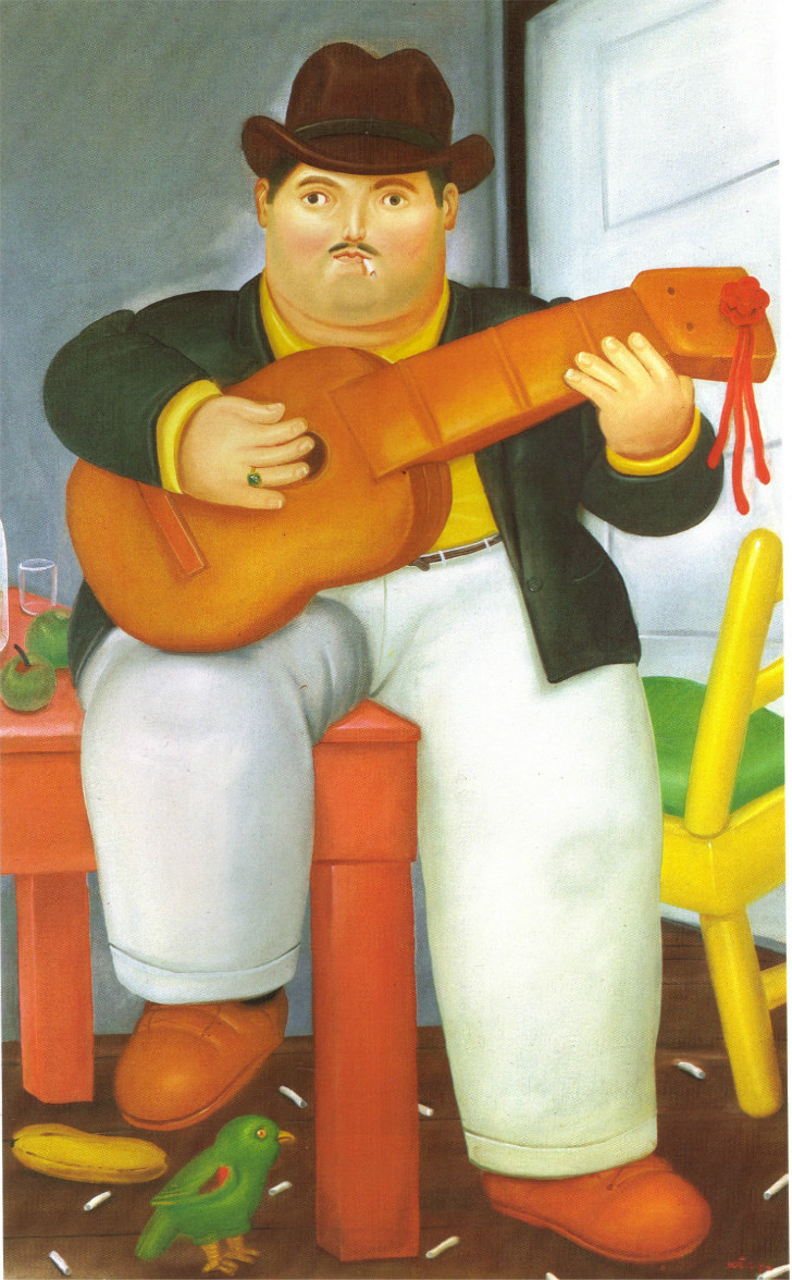 Fernando Botero - Man With A Guitar