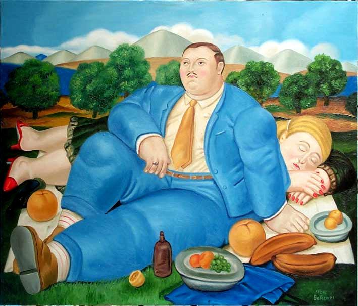 Fernando Botero - Picnic, 2001