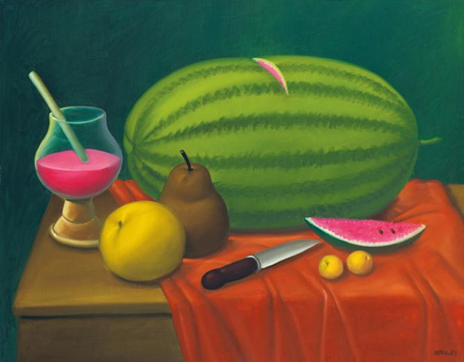 Fernando Botero - Still Life With Fruits