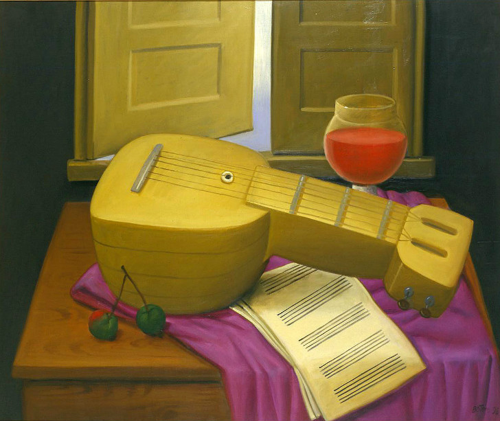 Fernando Botero - Still Life With Mandolin