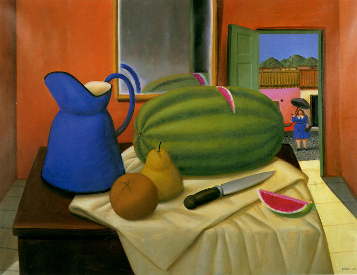 Fernando Botero - Still Life With Watermelon