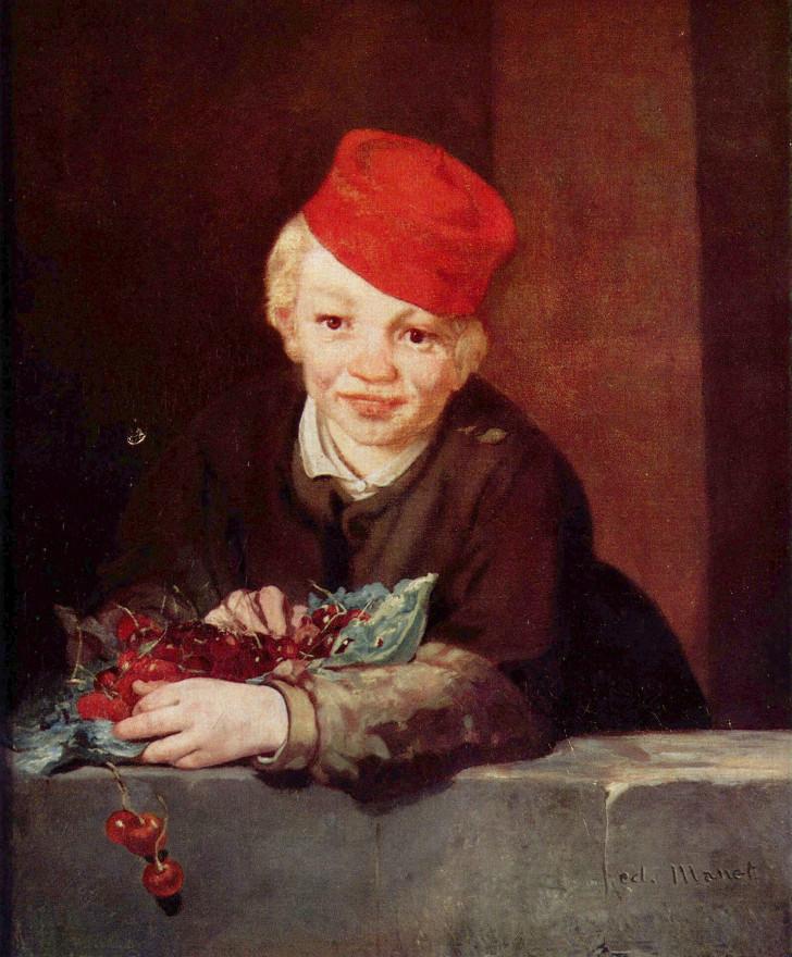 édouard manet - çocuk ve kiraz
