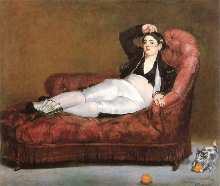 édouard manet - İspanyol Kostümlü Genç Kadın
