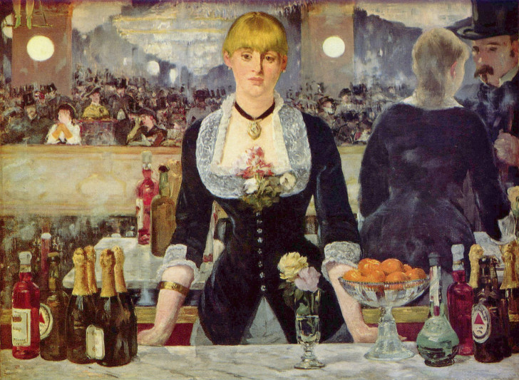 édouard manet - A Bar At Folies-Bergère