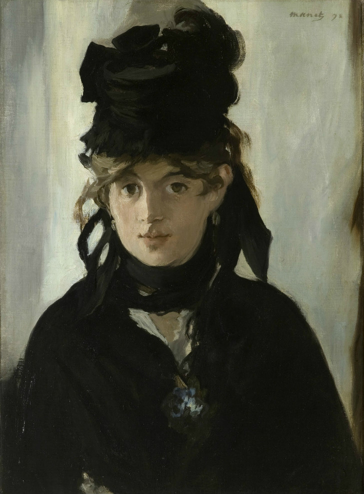 édouard manet  - Berthe Morisot with a Bouquet of Violets