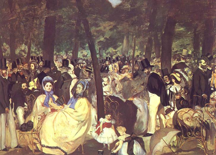 édouard manet - Tuileries'te Müzik