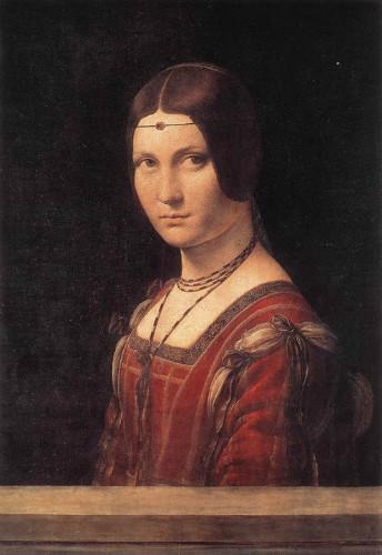 La Belle Ferronniere, leonardo da vinci tabloları