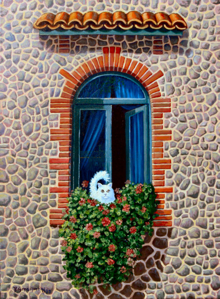 Peter Gerasimon - The White Cat At The Window