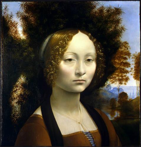 Portrait of Ginevra de Benci, leonardo da vinci tabloları