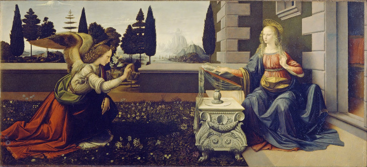 Leonardo da Vinci, The Annunciation