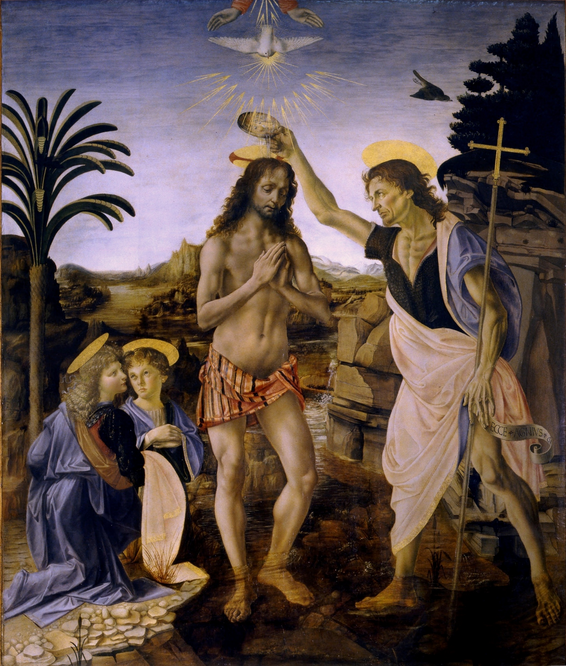 Leonardo da Vinci, The Baptism of Christ