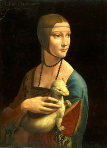 The Lady with an Ermine, leonardo da vinci tabloları