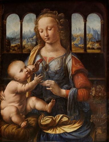 The Madonna of the Carnation, leonardo da vinci tabloları