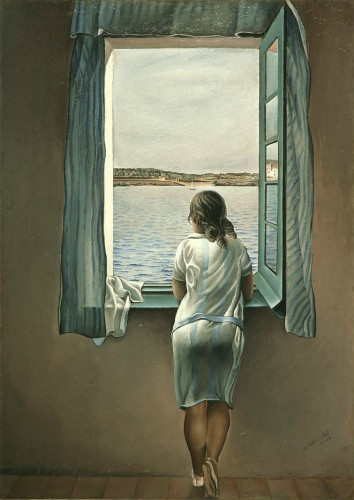 figure at a window, salvador dali resimleri