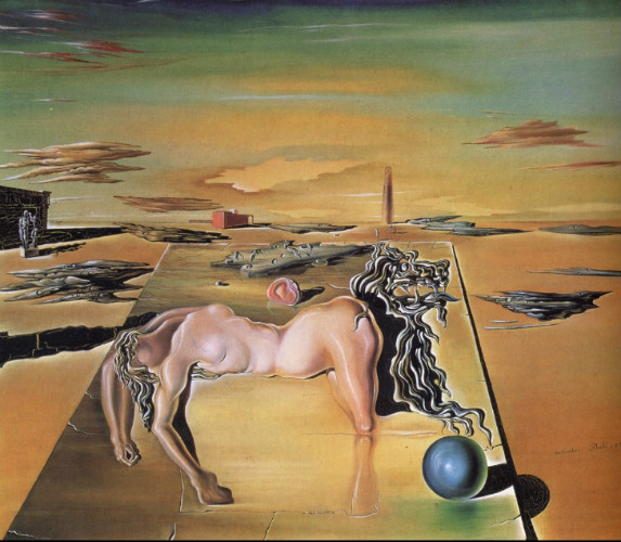 invisible sleeping woman horse lion, salvador dali