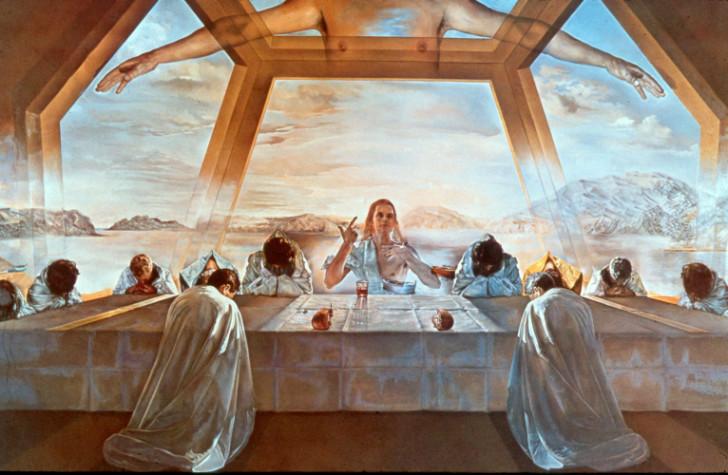 sacrament of the last supper, salvador dali