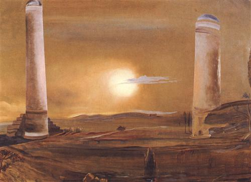 the towers, salvador dali