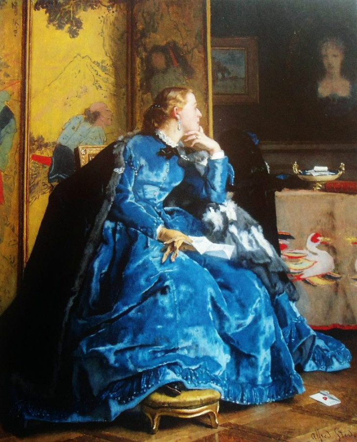 alfred stevens lady in blue