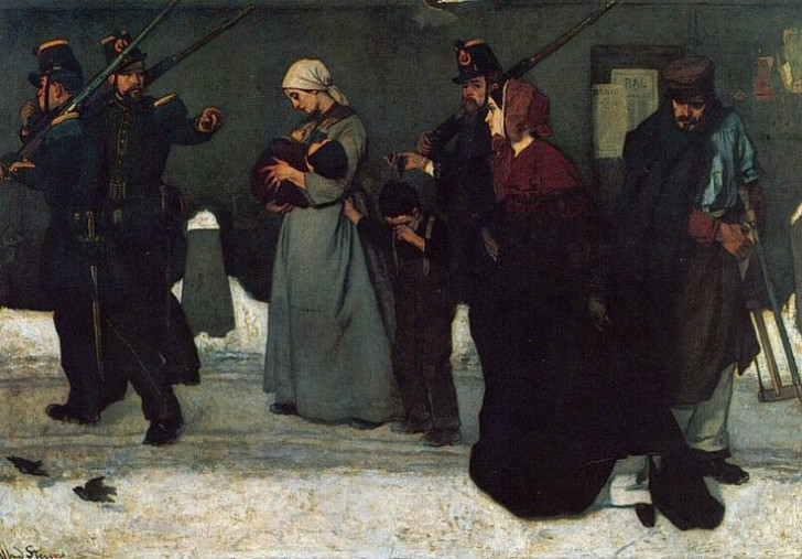 alfred stevens what is called vagrancy or the hunters of vincennes