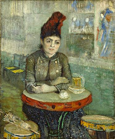 van gogh - Agostina Segatori Sitting In The Café du Tambourin