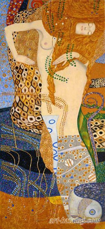 gustav klimt - water serpents 1