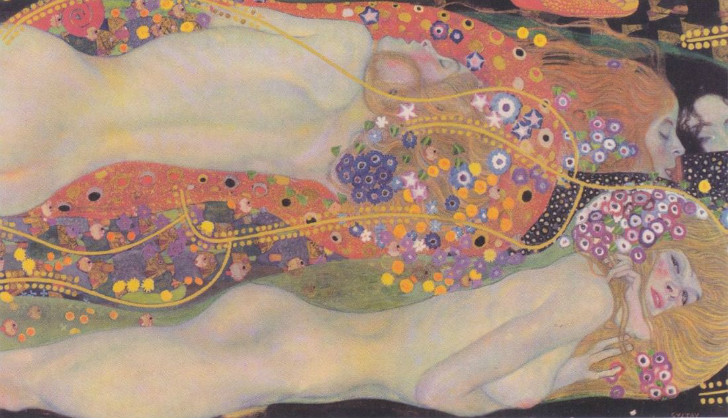 gustav klimt - water serpents 2