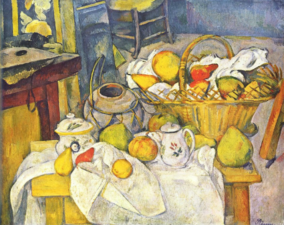 paul cezanne - still life with basket