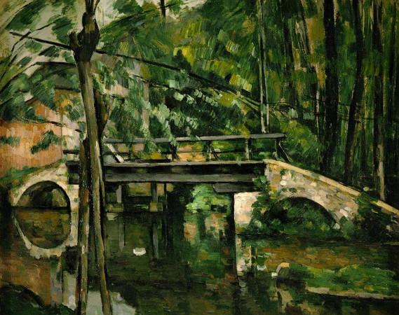 paul cezanne - the bridge at maincy