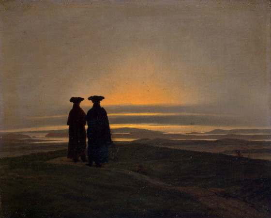 Caspar David Friedrich, Sunset, 1835