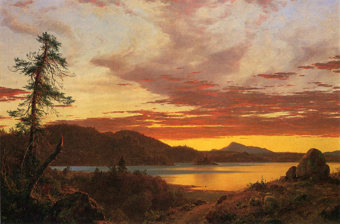 Frederic Edwin Church, Sunset, 1856