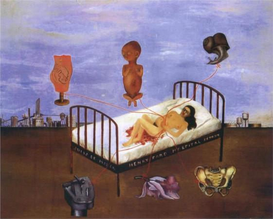frida kahlo - henry ford hastanesi tablo