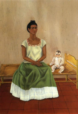 frida kahlo - me and baby doll