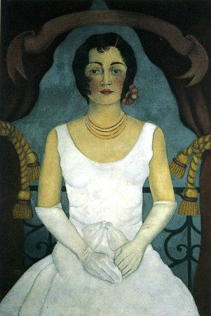 frida kahlo - portrait of a woman in white