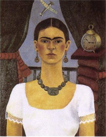 frida kahlo - self portrait time flies