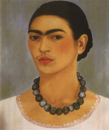 frida kahlo - self portrait with necklace