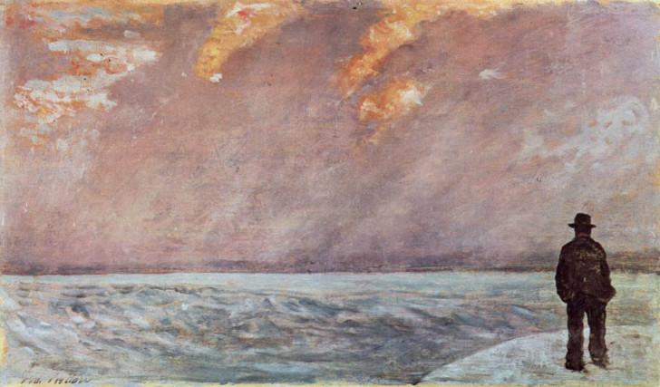 Giovanni Fattori, Sunset At Sea, 1895