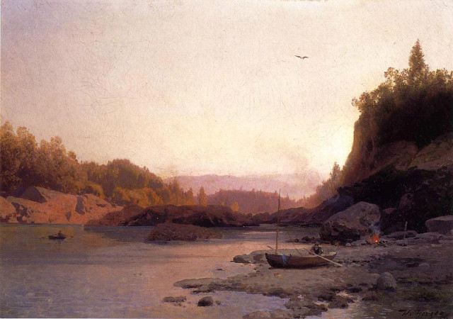 Hermann Herzog, Evening On The Susquehanna, 1890