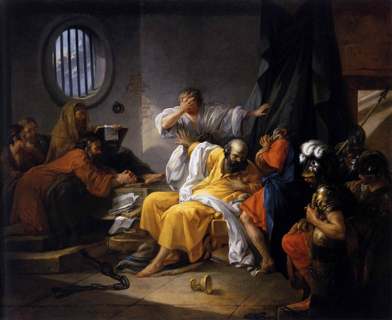 The Death of Socrates, 1783