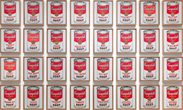 andy warhol - campbells soup