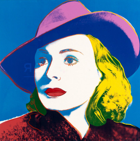 andy warhol - ingrid bergman with hat