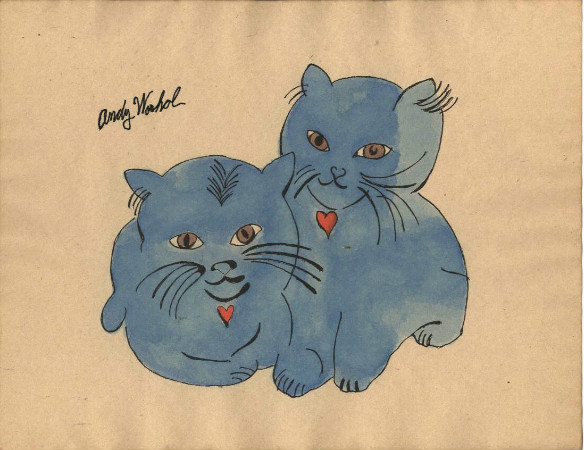 andy warhol - two blue kittens