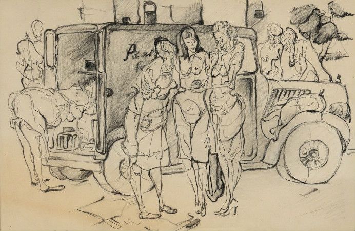 andy warhol - women and produce truck