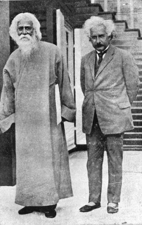 tagore ve einstein